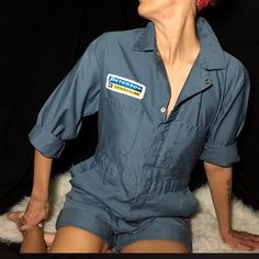 Vintage mens coveralls remade into girls shortalls for a killer rockabilly look. Coming soon to @mslonelyheartvintage on instagram. An instasale store