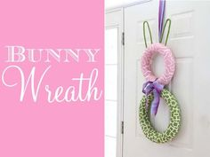 DIY easter crafts DIY Spring Bunny Wreath DIY easter crafts