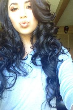 this length & these curls. dying.