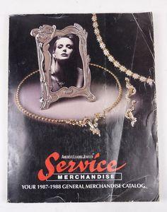 VINTAGE 80's 1987-88 SERVICE MERCHANDISE CATALOG JEWELRY TOYS ELECTRONICS