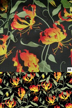 Many variants of the gloriosa vines pattern are now available in my @Spoonflower shop on fabric, wallpaper and home decor. #spoonflower #aboutpattern #botanicalillustration #exoticflower #floral #floraldesign #floralillustration #gloriosa #gloriosalily #graphicdesign #handdrawnfloral #neuestoffe #nähenfetzt #nähliebe #patternartist #patternator #patterndesignersclub #patternlicious #ruhmeskrone #seamlesspattern #sewingaddict #stoffmuster #surfacepattern #textiledesign #vines… Fabric Wallpaper, Of Wallpaper, Pattern Wallpaper, Textile Design, Floral Design, Graphic Design, Floral Illustrations, Botanical Illustration, Spoonflower