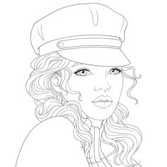People Coloring Pages, Love Coloring Pages, Adult Coloring Pages, Coloring Books, Pencil Art Drawings, Art Sketches, Barbie Coloring, Cute Couple Drawings, Female Drawing