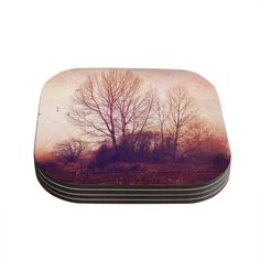 Kess InHouse Sylvia Cook 'Explore' Coasters, 4 by 4-Inch, Brown/Pink, Set of 4 ** Discover this special product, click the image : Coasters Home Decor