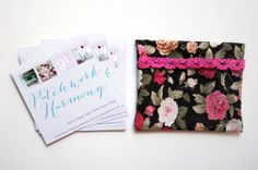 DIY: Fabric business card holder