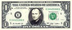 PHIL COLLINS on a REAL Dollar Bill Cash Money Memorabilia Collectible Celebrity