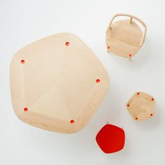 Swedish design and architect trio Claesson Koivisto Rune will launch a new solid wood furniture series for new Japanese brand Matsuso T at the Stockholm Design Week. Swedish Design, Nordic Design, Scandinavian Design, Note Design Studio, Notes Design, Solid Wood Furniture, Furniture Design, Triangular Pattern, Hexagon Shape