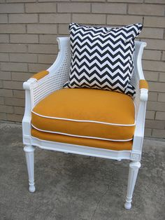 diy. ethnic print for chair re-do.