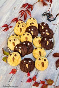 Biscuitii bufnita fac parte din categoria deserturilor iubite de copii atat pentru gust cat si pentru prezentare. Sunt atat de Funny Food, Food Humor, Fall Treats, Dessert Ideas, Fall Recipes, Kids Meals, Biscuit, Sweets, Cookies