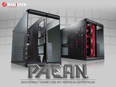 "Raijintek joined the aluminum-and-glass case trend with a new ATX chassis dubbed ""Paean."""