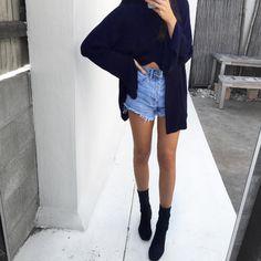Loving this look! #denim #blk #shots #fashion #ootd