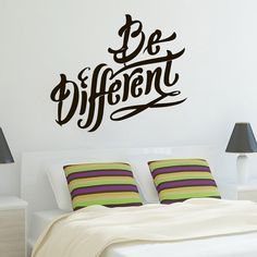 Wall Decals Quote Be Different Decal Vinyl Sticker Bedroom Interior Design Home Living Decor Art Murals EG55