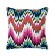 Jonathan Adler Bargello Worth Avenue Wool Throw Pillow