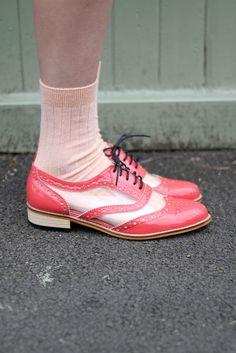 Coral Oxford Transparent Shoes