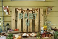 DIY Faux Taxidermy, Woodland Baby Shower By I Love Love Events