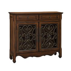 Rustic Brown Two Door Cabinet Coast To Coast Imports Cabinets Accent Cabinets & Chests Acc