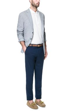 GINGHAM FABRIC BLAZER - With check shirt?