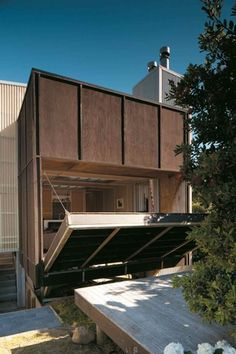 Matter Architects - Whiritoa House fold down wall.
