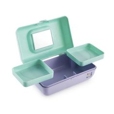 Caboodles Makeup Bags And Organizers Retro Pretty in Petite - Seafoam/Lilac : Target Michael Christmas, Makeup Caboodle, Vintage Makeup, Makeup Case, Makeup Box, Cosmetic Case, Sea Foam, Vintage Colors, Beauty Care