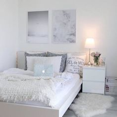 19 chic bedroom decorating ideas for teen girls 6 - nimivo sites Cute Bedroom Ideas, Girl Bedroom Designs, Room Ideas Bedroom, Small Room Bedroom, Bedroom Layouts, Bedroom Themes, Girls Bedroom, Master Bedroom, White Bedroom Decor