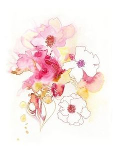 The Camellia watercolor print