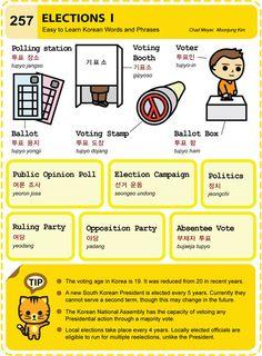 257 Learn Korean Hangul Elections 1