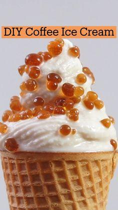 Frozen Desserts, Fun Desserts, Delicious Desserts, Dessert Recipes, Yummy Food, Fun Baking Recipes, Sweet Recipes, Cooking Recipes, Ice Cream Recipes