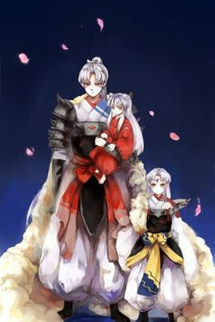 InuYasha, Sesshomaru and their father, Inu no Taisho