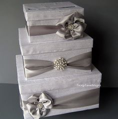Wedding card box diy love this but in gold with pink tulle and unique wedding card boxes diy card boxes to resemble the wedding cakes solutioingenieria Gallery