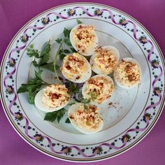 """Smoked-Salmon Deviled Eggs 
