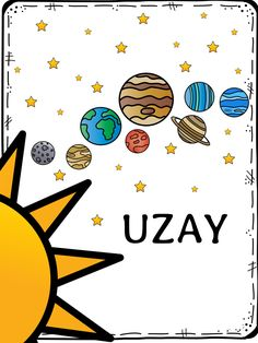 An easy reader for Kinder about space! This is a sneak peek of my space unit complete with printables, coloring pages, and activities. Full unit to come soon! Sistema Solar, Space Activities, Toddler Activities, Preschool Curriculum, Preschool Activities, Homeschool, Coloring Books, Coloring Pages, Alien Crafts