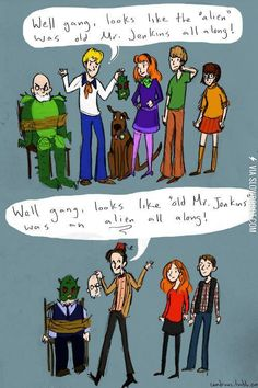 The difference between Doctor Who and Scooby Doo...