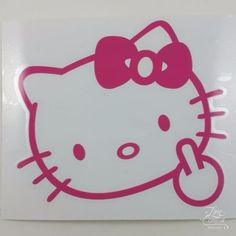 Hello Kitty Hold An AK Rifle Sticker Gambler Pinterest - Window decals for cars and trucksbest gambler images on pinterest hello kitty vinyl decals