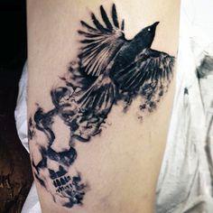 Bird And Smoke Tattoo Rauch Tattoo, Smoke Tattoo, King Of Persia, Burning Rose, Sleeve Tattoos, Tattoos For Guys, Bird, Jessie, Tattoo Ideas