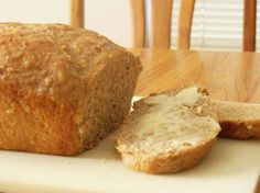Vermont Whole Wheat Oatmeal Honey Bread ... recipe ... there is nothing so yummy as fresh warm bread right from the oven with a pat of real butter.