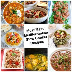 9 Must Make Slow Cooker Mediterranean Recipes - A Cedar Spoon These 9 Must Make Slow Cooker Mediterranean Recipes offer a nice variety for anyone looking for healthy recipes using Mediterranean flavors and ingredients. // A Cedar Spoon Best Slow Cooker, Crock Pot Slow Cooker, Slow Cooker Recipes, Crockpot Recipes, Italian Recipes, New Recipes, Healthy Recipes, Delicious Recipes, Favorite Recipes