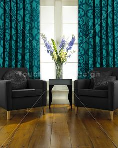 Image Detail For Fryetts Milano Teal Curtain