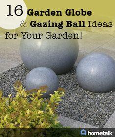 16 Garden Globe & Gazing Ball Ideas for Your Garden!