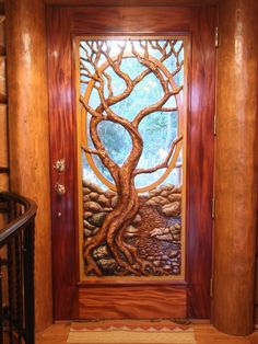 Dream door in Magnificent Custom Log Home... If I ever have a cabin this is my front door...it's like a fairytale