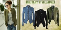 asian style jacket for women | Women's Military-Style Jacket for RM53, FREE Delivery Nationwide ...