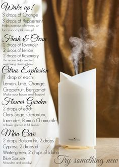 Essential oil diffuser blends https://www.youngliving.org/grocholski2