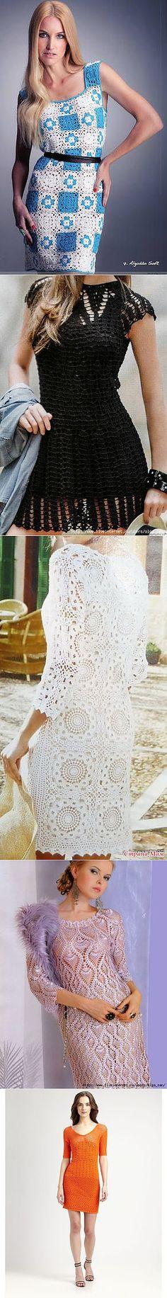 Платья крючком. Подборка | Вязание крючком: модели | Постила
