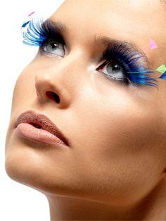 Blue Feather Plume Eyelashes