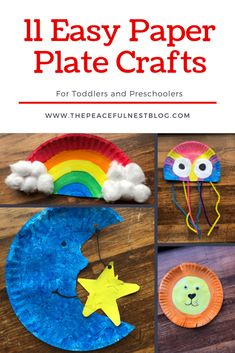 11 Easy Paper Plate Crafts for Toddlers and Preschoolers. Easy crafts for kids. … 11 Easy Paper Plate Crafts for Toddlers and Preschoolers. Easy crafts for kids. …,kita 11 Easy Paper Plate Crafts for. Preschool Art Activities, Preschool Arts And Crafts, Paper Plate Crafts For Kids, Kindergarten Art Projects, Daycare Crafts, Easy Crafts For Kids, Fun Crafts, Simple Crafts, Easy Toddler Crafts 2 Year Olds
