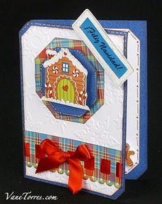 Tarjeta de Navidad Casita Galleta
