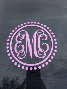 Dreamcatcher Monogram Decal Custom Vinyl Decal Macbook Laptop - Monogram car decal sticker