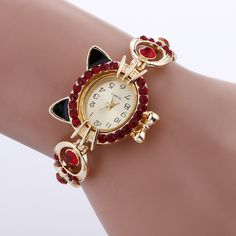 Watches Collection Here Novelty Cat Letter Dial Quartz Moment Faux Leather Band Couples Wrist Watch New Bracelet