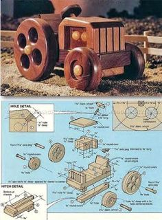 Wooden Tractor Plans - Wooden Toy Plans and Projects   WoodArchivist.com