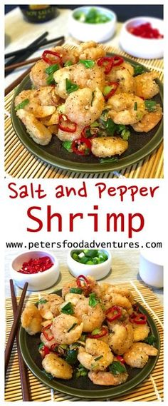 Salt and Pepper Shrimp is a favourite dish found at many western Chinese restaurants. Its quick crunchy and delicious a perfect appetizer! Shellfish Recipes, Seafood Recipes, Appetizer Recipes, Chicken Recipes, Easy Soup Recipes, Cooking Recipes, Salt And Pepper Shrimp, Salt And Pepper Recipes, Popcorn Shrimp