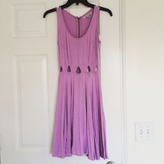 Gorgeous Lavender Dress Flowy, soft thick material, and very form fitting. Recently purchased from another Posher and I love it, but I think I'm way too pale for the color . Perfect condition and if you're interested, you should buy before I change my mind on selling it!  Dresses