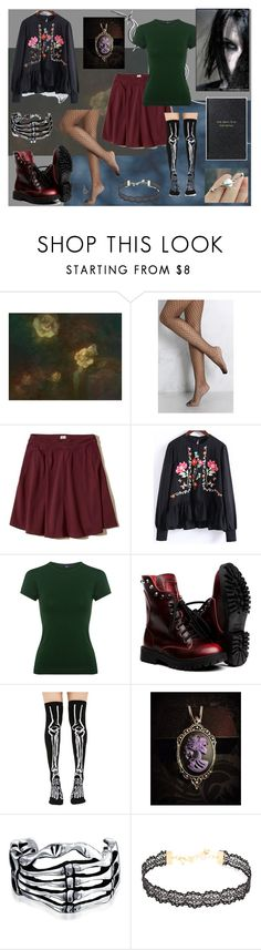 """The weird girl from my class"" by petunia-hybrida-grandiflora ❤ liked on Polyvore featuring Rare London, Hollister Co., WithChic, TIBI, Killstar, Bling Jewelry, Vanessa Mooney and Smythson"